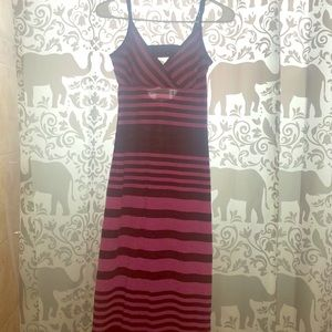 No Boundaries Size L Pink And Black Maxi Dress